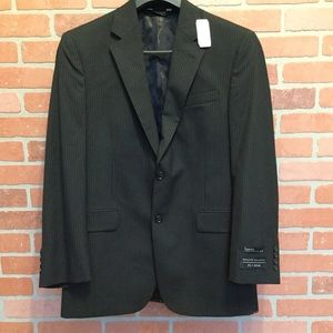 Jos A Bank wool suit jacket black 2 Button (3F25)